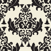 Black and Cream Damask