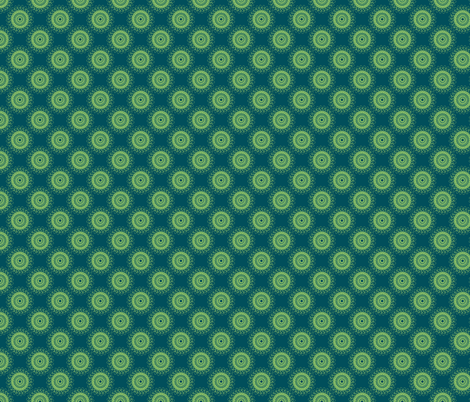 Doily (blue/green) fabric by eviltwinempire on Spoonflower - custom fabric