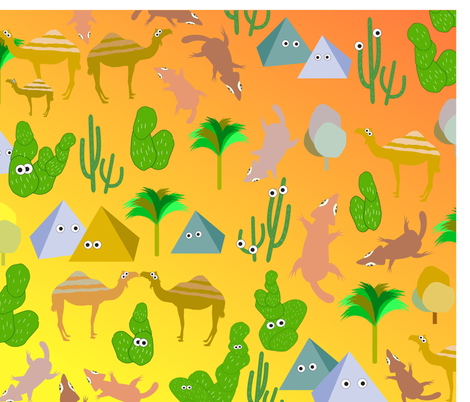 cami_desert fabric by camilee on Spoonflower - custom fabric