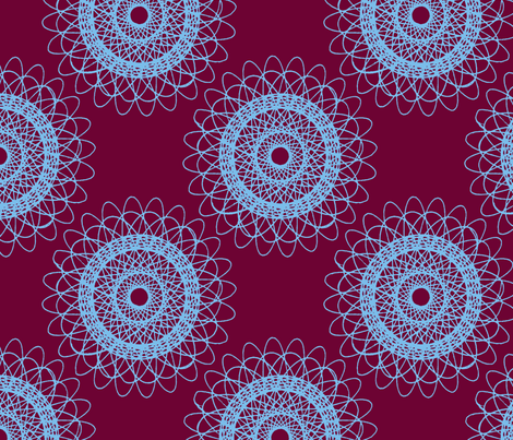 Big Doily (purple/blue) fabric by eviltwinempire on Spoonflower - custom fabric