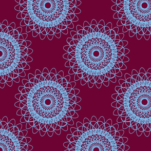 Big Doily (purple/blue)
