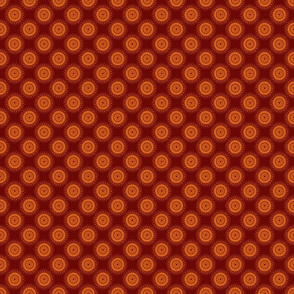 Doily (burnt/orange)