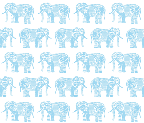 kito baby blue fabric by scrummy on Spoonflower - custom fabric