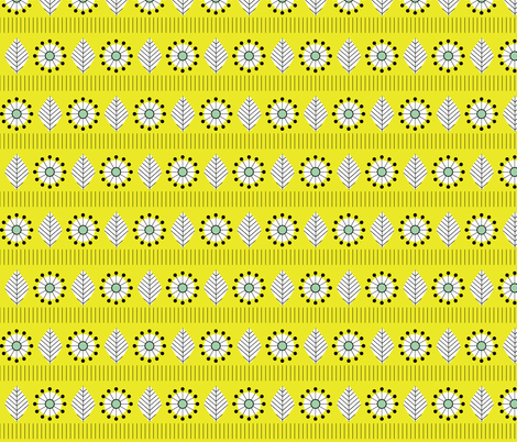 1950s_leaf_yellow fabric by aliceapple on Spoonflower - custom fabric
