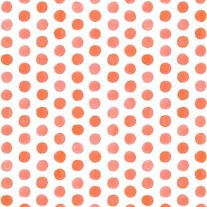 Small Watercolor Dots: Coral