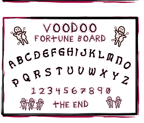 Voodoo Ouija Board fabric by marionwilhelm on Spoonflower - custom fabric