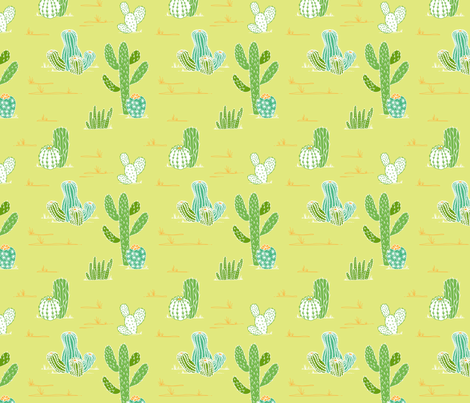 cactus fabric by lauredesigns on Spoonflower - custom fabric