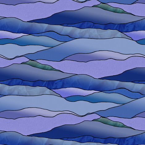 Another Cold Night in the Desert. fabric by rhondadesigns on Spoonflower - custom fabric