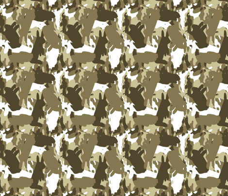 Bunouflage Mocha fabric by kdl on Spoonflower - custom fabric