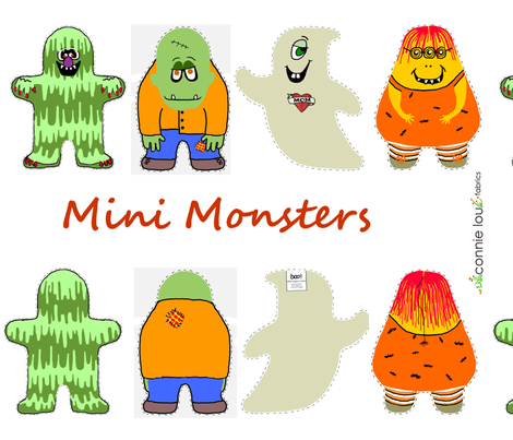 mini monsters fabric by connielou on Spoonflower - custom fabric