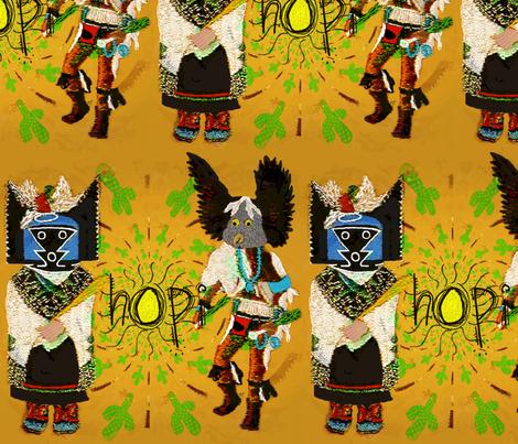 "Kachina ""dancers of the desert"" fabric by paragonstudios on Spoonflower - custom fabric"
