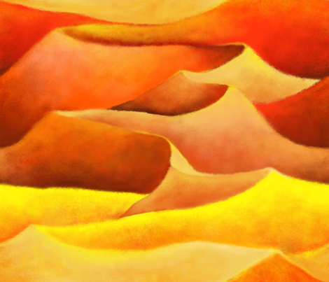Desert_Sunset fabric by yvonne_herbst on Spoonflower - custom fabric
