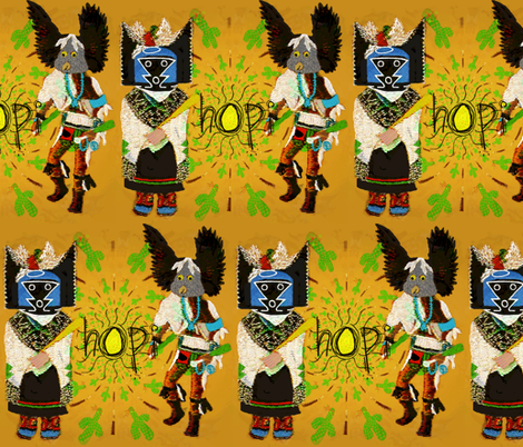 "Kachina ""dancers of the desert"" fabric by paragonstudios on Spoonflower - custom fabric"