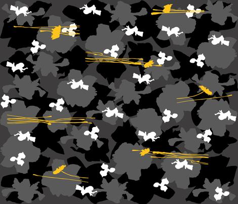 garden camo fabric by larissantoro on Spoonflower - custom fabric