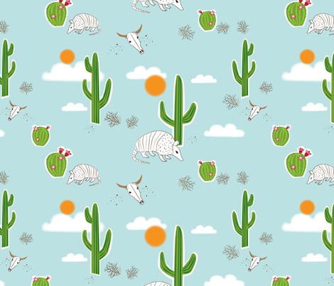 Desert Dream fabric by dynasty_b on Spoonflower - custom fabric