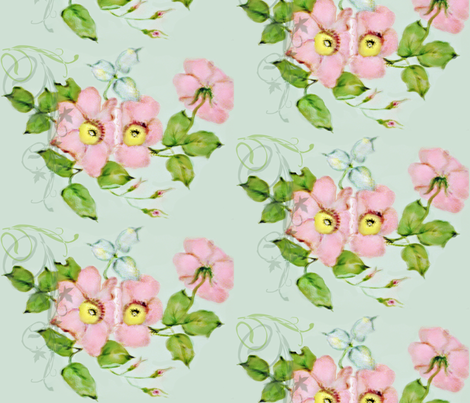 Wild Roses Pink fabric by paragonstudios on Spoonflower - custom fabric
