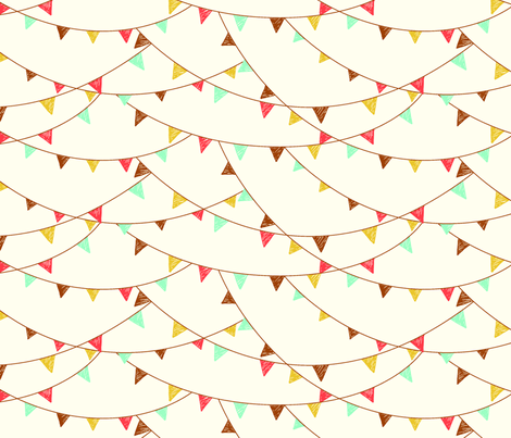 flags - cream fabric by cheyanne_sammons on Spoonflower - custom fabric