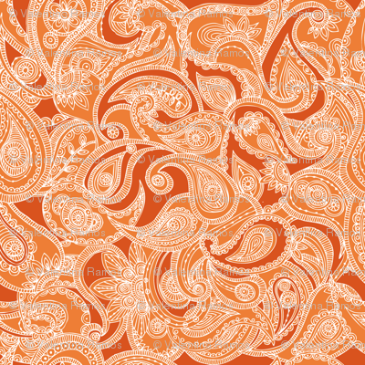 Paisley in orange