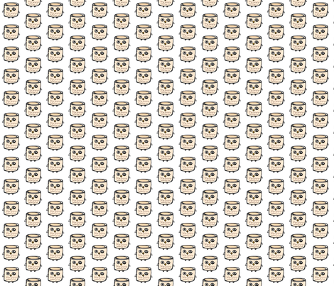 marshmallOWL fabric by nadiahassan on Spoonflower - custom fabric