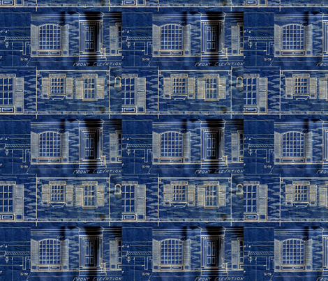 Blueprints fabric by liquidambar on Spoonflower - custom fabric