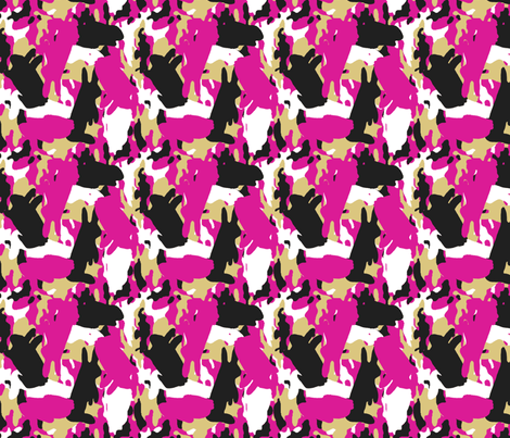 Bunouflage Pink fabric by kdl on Spoonflower - custom fabric