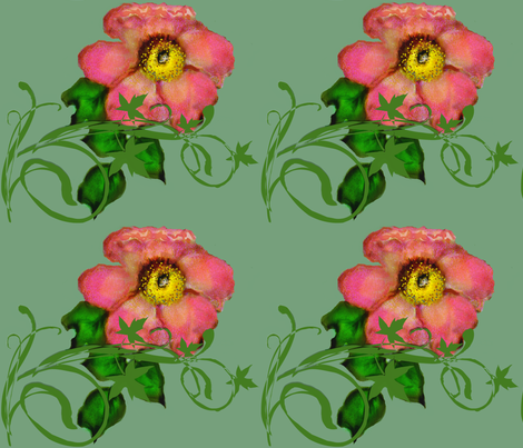 Wild Roses mirrored fabric by paragonstudios on Spoonflower - custom fabric