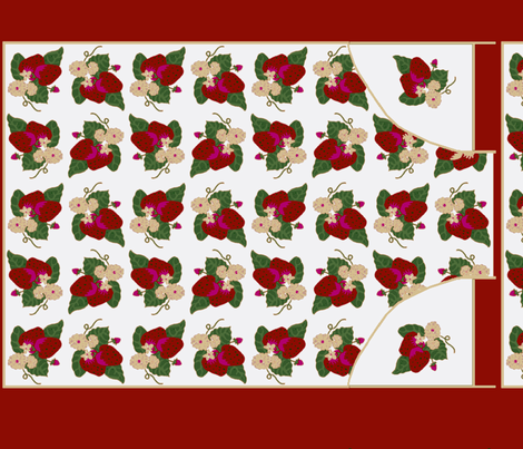7 Piece Strawberries Apron fabric by kdl on Spoonflower - custom fabric