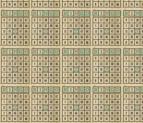 Vintage Bingo fabric by amyteets on Spoonflower - custom fabric