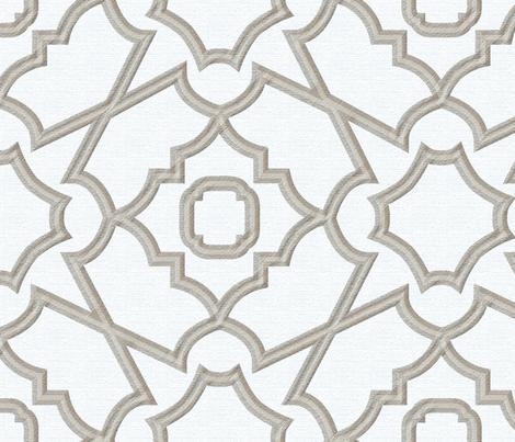 Linen Trellis fabric by janelle_wooten on Spoonflower - custom fabric