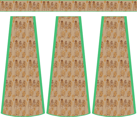 Cut-and-sew bouffant skirt, Supadupafly fabric by nalo_hopkinson on Spoonflower - custom fabric