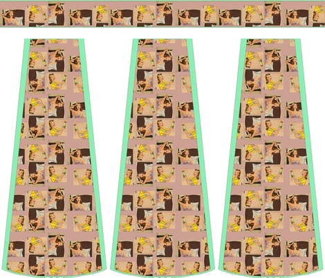 Cut-and-sew bouffant skirt, Wifely fabric by nalo_hopkinson on Spoonflower - custom fabric