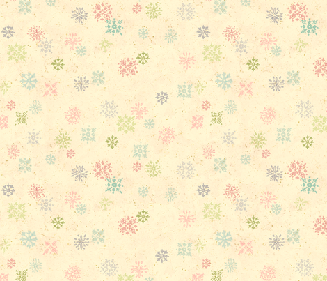 Vintage Snowflake Wallpaper fabric by juliamonroe on Spoonflower - custom fabric