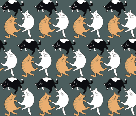sleeping_cats smaller fabric by dccanim on Spoonflower - custom fabric