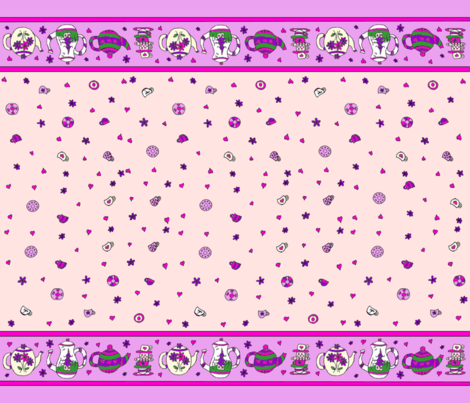 Sweet_Tea_Pink fabric by plaiddragon on Spoonflower - custom fabric