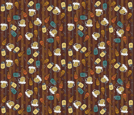 Stuff for Dudes- Beer & pretzels fabric by cynthiafrenette on Spoonflower - custom fabric