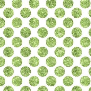 Glitter Dot Green