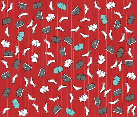 Stuff for Dudes- Sock and underwear fabric by cynthiafrenette on Spoonflower - custom fabric