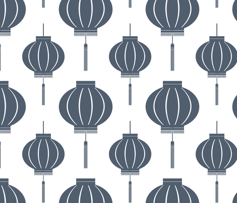 Lantern (Poppyseed) fabric by blackpomegranate on Spoonflower - custom fabric