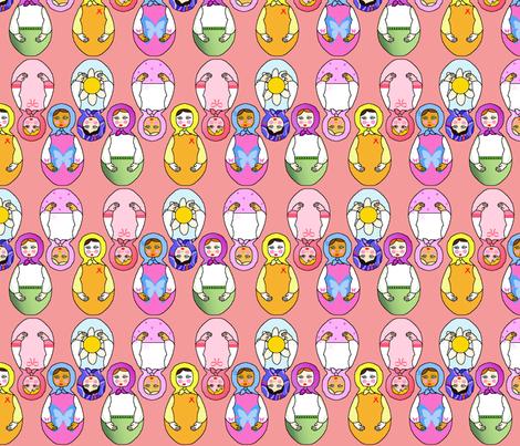 matriochka rose fabric by elfyne on Spoonflower - custom fabric