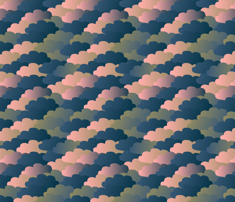 Camo Clouds (candyfloss) fabric by mjolkig on Spoonflower - custom fabric