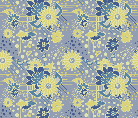 Floral Pow at Dawn fabric by dolphinandcondor on Spoonflower - custom fabric