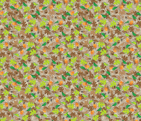 Leafy Camouflage - © Lucinda Wei fabric by lucindawei on Spoonflower - custom fabric