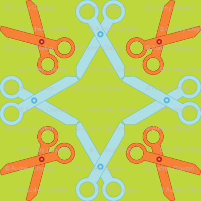 Rotating Orange/Blue Scissors