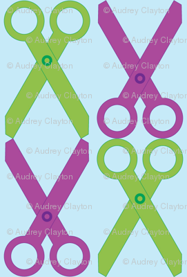 Purple/Green Scissors