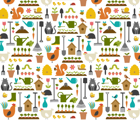 garden fabric by dennisthebadger on Spoonflower - custom fabric