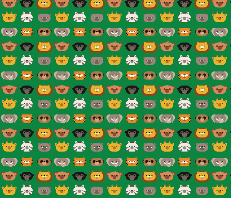 jungle friends fabric by dennisthebadger on Spoonflower - custom fabric
