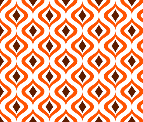 orange diamonds fabric by dennisthebadger on Spoonflower - custom fabric