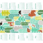 forest friends calendar 2015, mountain fresh