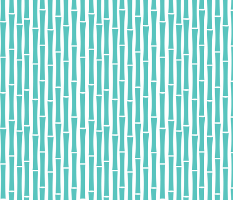 BambooToo (Foo Blue) fabric by blackpomegranate on Spoonflower - custom fabric