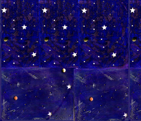Night sky stars fabric akua spoonflower for Night sky print fabric
